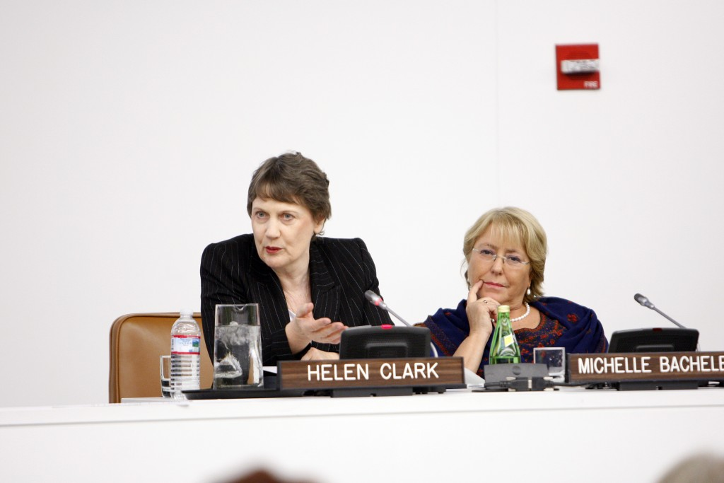 Helen Clark and Michelle Bachelet at Side Event: Women's Political Participation. Making Gender Equality in Politics a Reality
