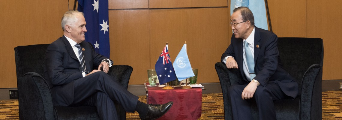 Bilateral meeting with H.E. Mr. Malcolm Turnbull, MP, Prime Minister of the Commonwealth of Australia