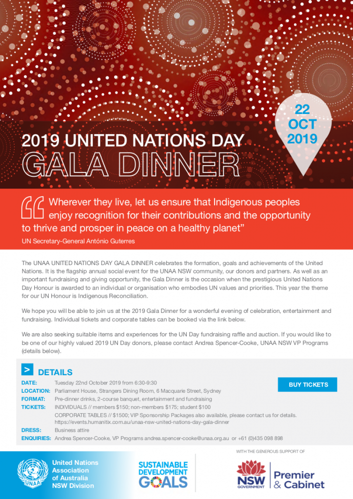 UNAA NSW United Nations Day Gala Dinner
