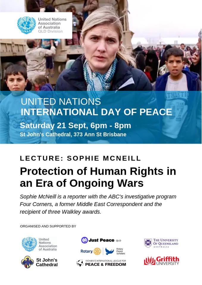 International Day of Peace: Sophie McNeill Lecture
