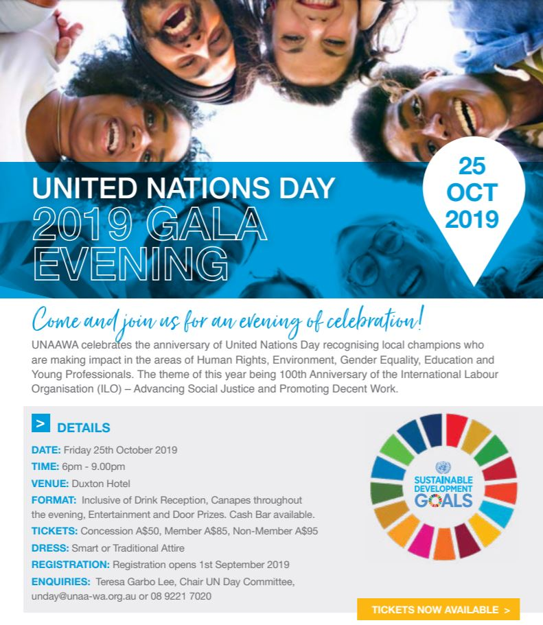 UNAA WA United Nations Gala Evening